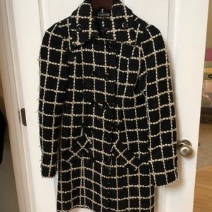 Rampage black and white pea coat size M